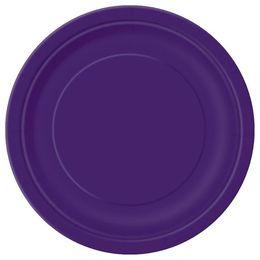 Deep Purple Papír Parti Tányér - 23 cm, 8 db-os