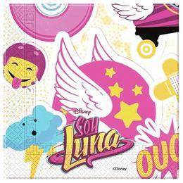 Soy Luna Parti Szalvéta - 33 cm x 33 cm, 20 db-os