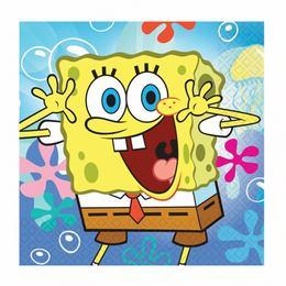 Spongebob Parti Szalvéta - 33 cm x 33 cm, 20 db-os