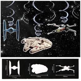 Star Wars Spirális Függő Dekoráció - 6 db-os