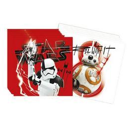 Star Wars VIII Az utolsó Jedik Parti Szalvéta - 33 cm x 33 cm, 20 db-os