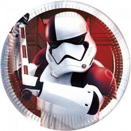 Star Wars VIII Az utolsó Jedik Parti Tányér - 20 cm, 8 db-os