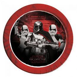 Star Wars VIII Az utolsó Jedik Parti Tányér - 23 cm, 8 db-os