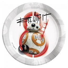 Star Wars VIII Az utolsó Jedik Rebels-Lázadók Parti Tányér - 23 cm, 8 db-os