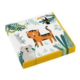 Szafari Állatok - Get Wild Parti Szalvéta - 33 cm x 33 cm, 16 db-os