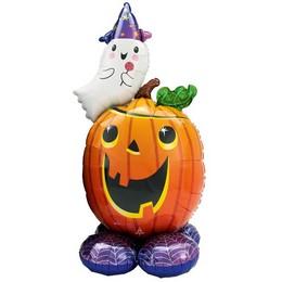 Szellem és Tök - Airloonz Fólia Lufi Halloween-re