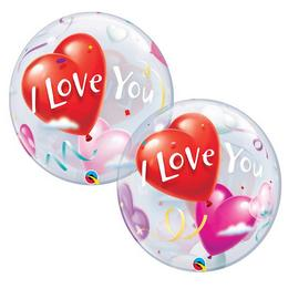 22 inch-es I Love You Heart Balloons Szerelmes Bubble Lufi