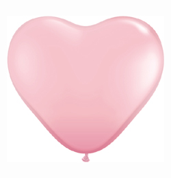 6 inch-es Pink (Standard) Szív Latex Lufi (100 db/csomag)