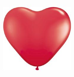 6 Inch-es Szív Latex Lufi