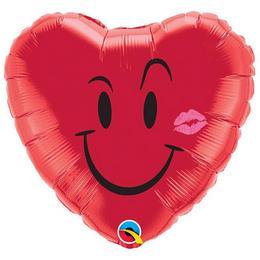 18 inch-es Pajkos Mosoly, Csók - Naughty Smile és A Kiss Szerelmes Fólia Lufi