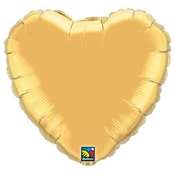 18 inch-es Metallic Gold Gold Szív Fólia Lufi
