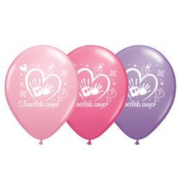 11 inch-es Szeretlek Anya - Pink, Rose, Spring Lilac Assorted Lufi (6 db/Csomag)