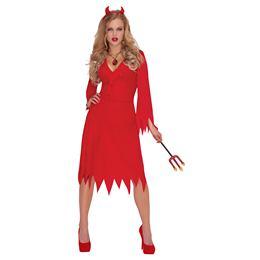 Szexi Piros Női Ördög Jelmez Halloweenre e6997fed58