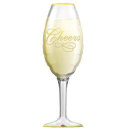 Pezsgőspohár - Champagne Glass - Super Shape Fólia Lufi