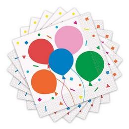 Színes Léggömb Mintás - Colourful Balloons Parti Szalvéta - 16 db-os, 33 cm x 33 cm