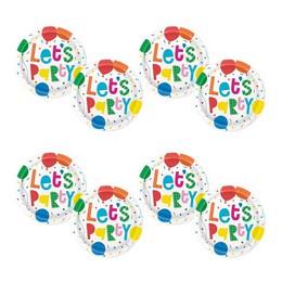 Színes Léggömb Mintás - Colourful Balloons Parti Tányér - 17 cm, 8 db-os