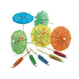 Színes Parti Mini Koktél Esernyő, 10 db-os
