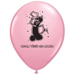 11 inch-es Szingli Többé Nem Leszek Pink Lufi Lánybúcsúra (6 db/csomag)