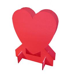 Piros Szív Alakú Léggömbtartó Állvány