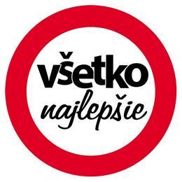 Vsetko Najlepsie! Szlovák Sebességkorlátozó Szülinapi Tábla - 40 cm