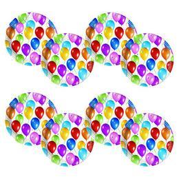 Balloon Fiesta Parti Tányér - 23 cm, 10 db-os