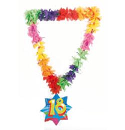 18-as Számos Szülinapi Hawaii Parti Nyakfüzér