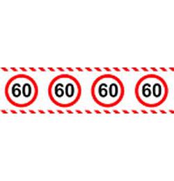 60-as Számos Sebességkorlátozó Szülinapi Parti Szalag - 15 m