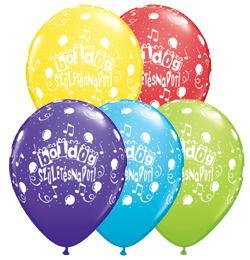 11 inch-es Boldog Születésnapot Assorted Lufi (6 db/csomag)