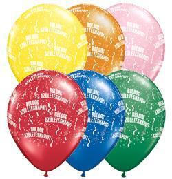 11 inch-es Boldog Születésnapot Standard Lufi (6 db/csomag)