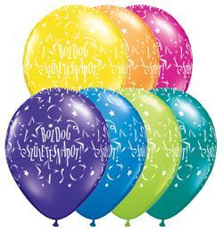 11 inch-es Boldog Születésnapot Stars Fantasy Lufi (25 db/csomag)