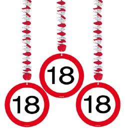 18 szülinapi party 18 as Sebességkorlátozó Szülinapi Parti Függő Dekoráció   3 db os  18 szülinapi party