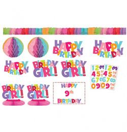 szülinapi parti kellékek gyerekeknek Számozható Szülinapi Kislányos Parti Dekoráció Készlet   28 db os  szülinapi parti kellékek gyerekeknek