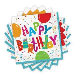 Birthday Jamboree Szülinapi Parti Szalvéta - 33 cm x 33 cm, 16 db-os