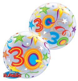 22 inch-es 30 Brilliant Stars Szülinapi Számos Bubble Lufi