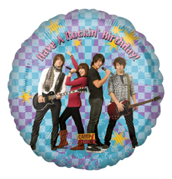 18 inch-es Camp Rock Rocking Birthday Szülinapi Fólia Lufi