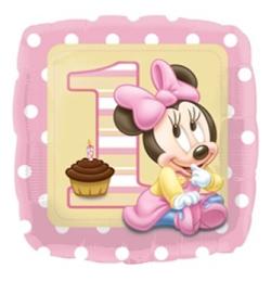 17 inch-es Minnie Egér - Minnie First Birthday Girl - Első Szülinapi Fólia Lufi