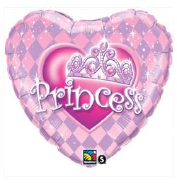 9 inch-es Hercegnő Tiara - Princess Tiara Szülinapi Fólia Lufi (5 db/csomag)