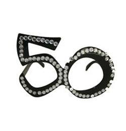 Fekete 50-es Szülinapi Parti Szemüveg