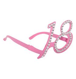 Rózsaszín 18-as Számos Szülinapi Parti Szemüveg