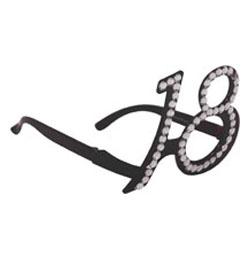 Fekete 18-as Számos Szülinapi Parti Szemüveg