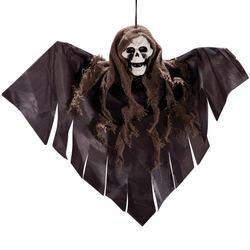 Szürke Csontváz Dekoráció Halloween-ra, 35 cm-es