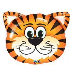 14 inch-es Tickled Tiger - Tigris Fej Fólia Lufi (5 db/csomag)