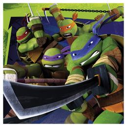 Teenage Mutant Ninja - Tini Nindzsa Parti Szalvéta - 33 cm x 33 cm, 20 db-os