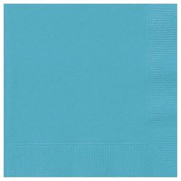 Caribbean Teal Papír Parti Szalvéta - 33 cm x 33 cm, 20 db-os