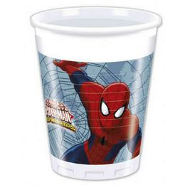 Ultimate Spiderman Web-Warriors - Pókember Parti Pohár - 200 ml, 8 db-os