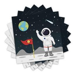 Űrhajós - Asztronauta Parti Szalvéta - 33 cm x 33 cm, 20 db-os