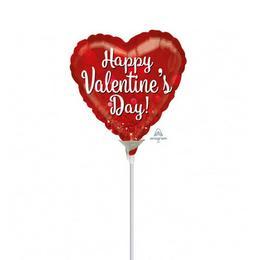 9 inch-es Valentine Sparkle Szerelmes Mini Shape Fólia Lufi (5 db/csomag)