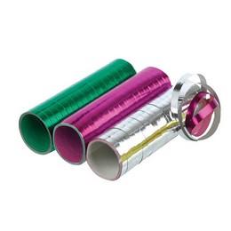 Vegyes Fólia Szerpentin, Ezüst-Pink-Zöld - 3 db-os