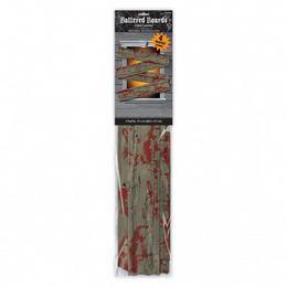 Véres Hatású Deszka Ablakdekoráció - 69 x 14 cm, 4 db-os