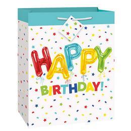 Közepes - Vidám Happy Birthday Szülinapi Ajándéktasak